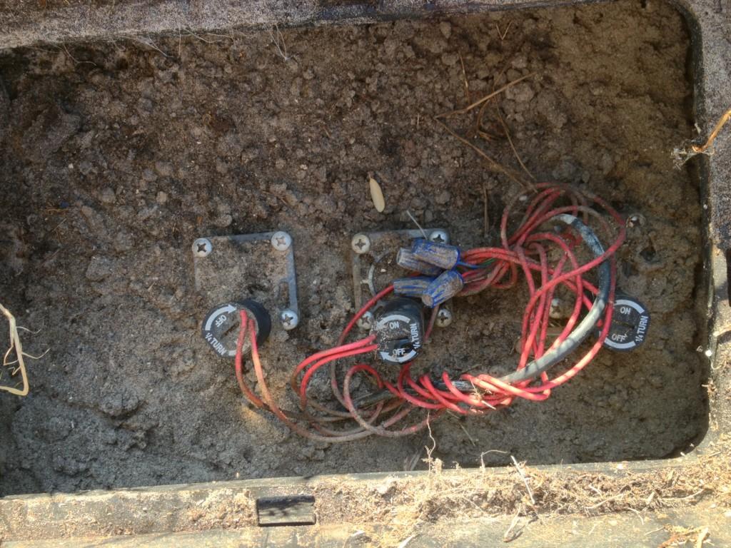 Typical sprinkler zone valves.